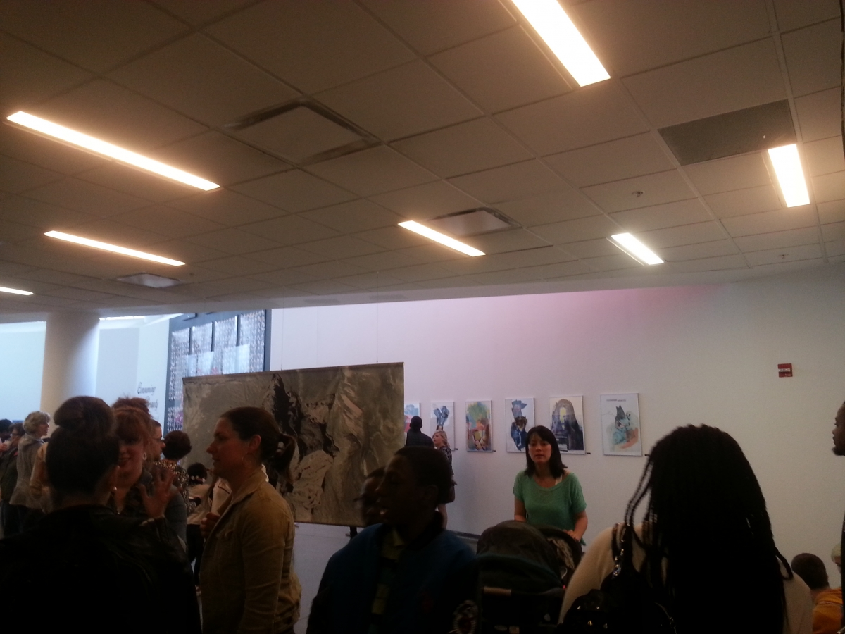 Visitors enjoying the Art of Student Teaching Show