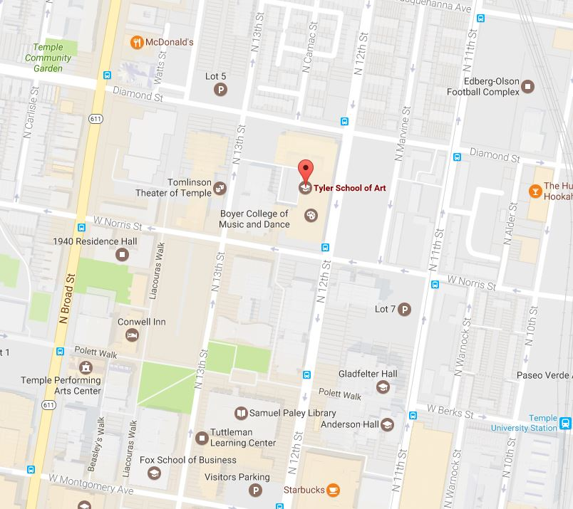 Map Tyler School Of Art - Philadelphia university map