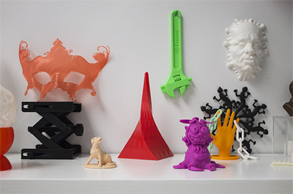 3D printed objects from the DFS