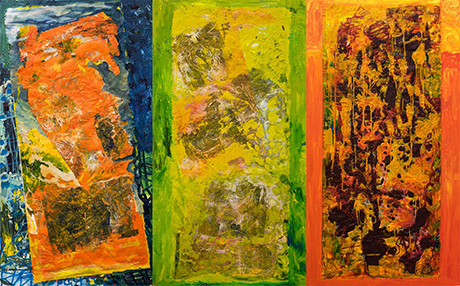 colorful triptych