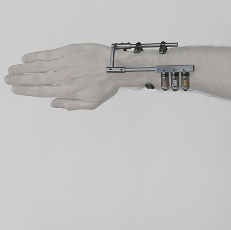 image of an arm wearing one of Bryan Kekst Brown's body-activated sculptures