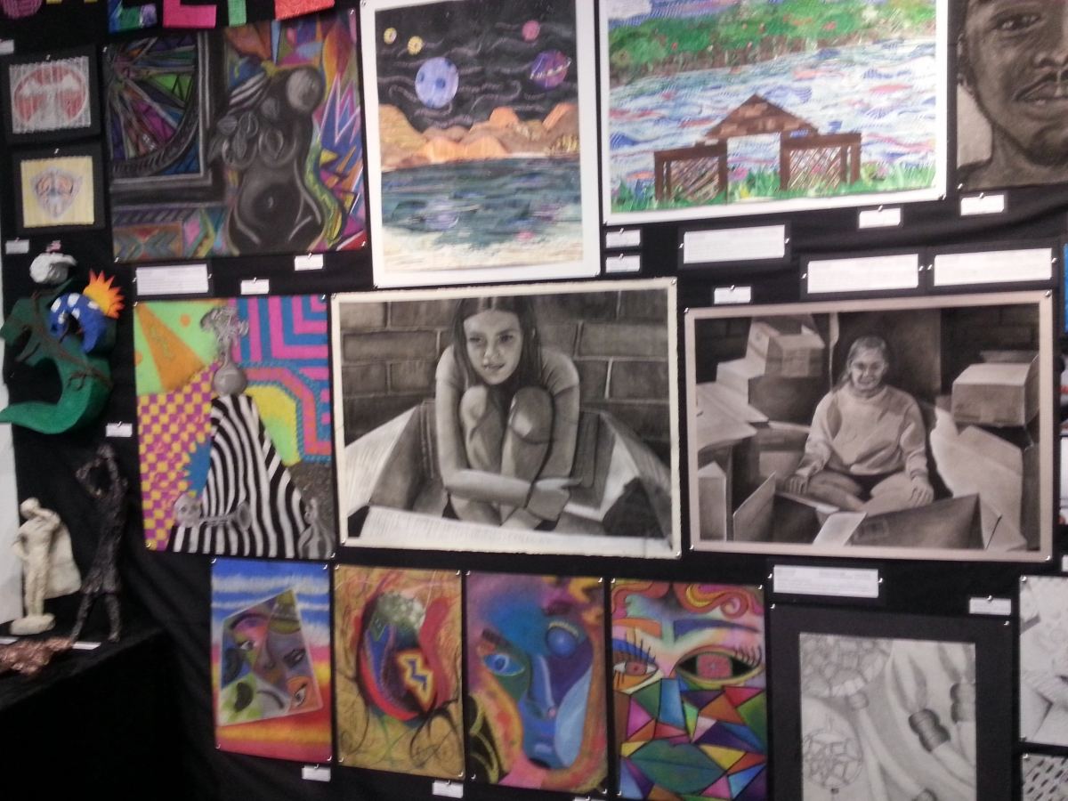Student Artwork at Art of Student Teaching Show