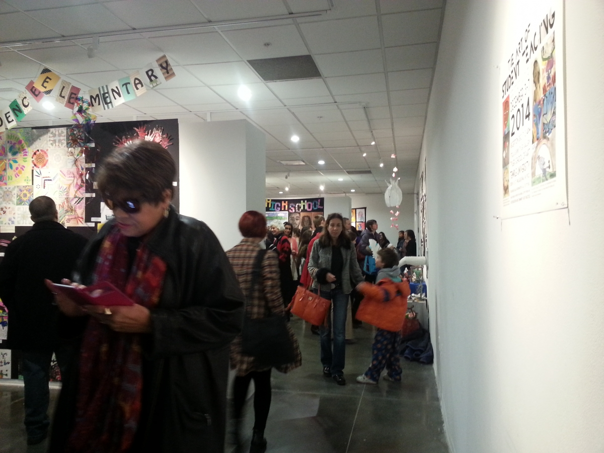Crowd Enjoying Art of Student Teaching Show