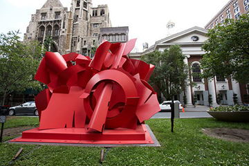 Composed Presence, sculpture on Park Avenue by Albert Paley