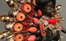 Wooden African sculpture