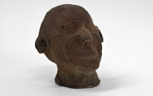 small sculpture made of chocolate of Self Portrait by Daniel Manenga made of chocolate