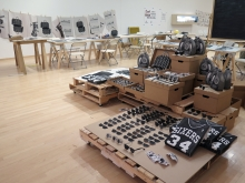 Display of counterfeit products