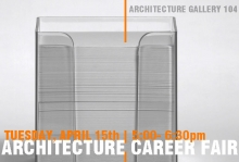 Architecture Career Fair with photo of business cards