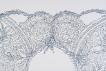 detail of glass lace, Kate Clements