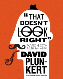 That Doesn't Look Right: David Plunkert: March 25 at 3pm in B04