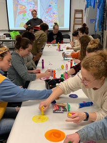 Student Teachers participate in Adaptive Arts Activity