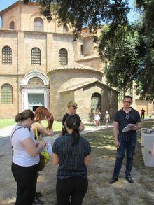 Joseph Kopta teaching at the Basilica of San Vitale in Ravenna, Italy
