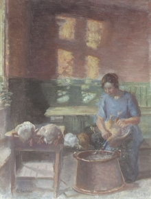 Anna Ancher, Plucking the Poultry, n.d.