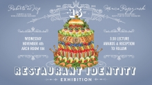 15th Annual GAID Restaurant Identity Exhibition Poster
