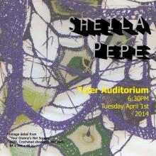 Sheila Pepe lecture postcard.