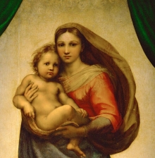 """Raphael, """"Sistine Madonna"""", 1512"""