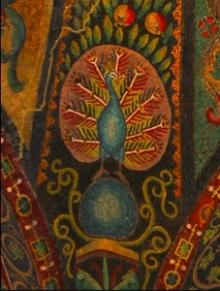 Presbytery Mosaic, San Vitale, Ravenna, mid 6th century