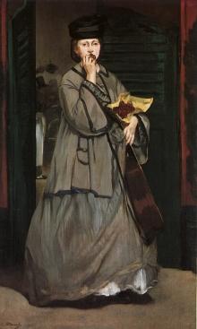 """Manet's """"Street Singer"""", 1862"""