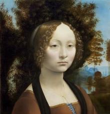Leonardo da Vinci, Ginevra de'Benci, c. 1474-1478