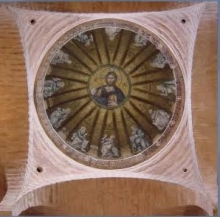 Dome mosiac of the Church of the Twelve Apostles, in Thessaloniki