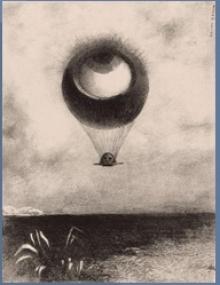 "Odilon Redon, ""Eye Balloon"", 1898"