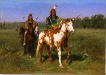 Rosa Bonheur, Mounted Indians Carrying Spears, 1890