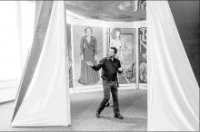 Andrew Hottle at feminist art show Rowan University