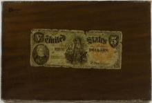W.M. Hartnett, Still Life - Five Dollar Bill, 1877
