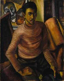 Malvin Gray Johnson, Self-Portrait, 1934, oil on canvas, Smithsonian American Art Museum, Gift of the Harmon Foundation.