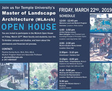 masters program open house flyer
