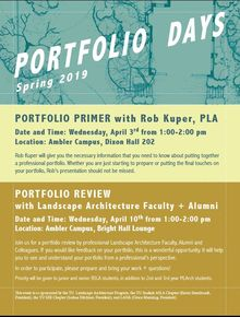 portfolio review informational flyer