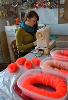 Amanda McCavour in her studio