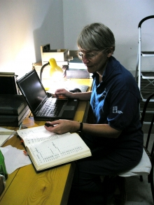 Jane Evans working