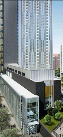 rendering of new temple towers