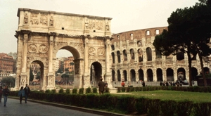 Rome Colosseum and Arch