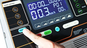 dashboard of a treadmill