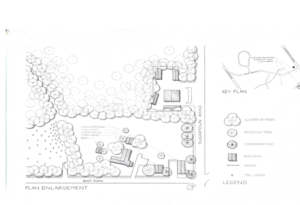 sketch of a garden
