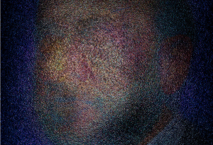 abstract color portrait