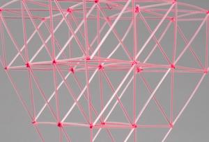 pink straw sculpture