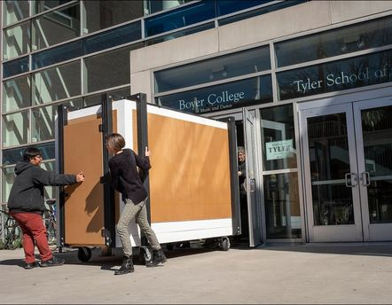 Tyler creates a giant, mobile camera obscura