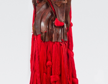 All That Rises Must Converge / Red, detail by Barbara Chase-Riboud