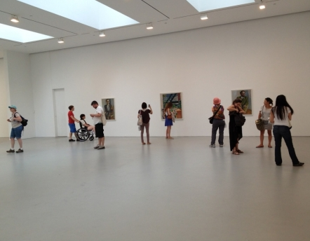 students in gallery