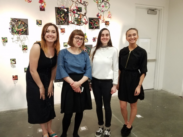 this year's 4 student teachers, Brooke Mulroy, Madeline Willis, Maria Chambers, and Anna Capriotti, photographed at the Art of Student Teaching