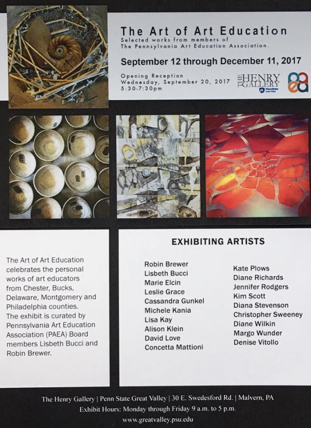 The Art of Art Education Flyer, featuring artwork.