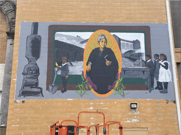 mural of Carrie Williams Saint of Coketon Ali Printz