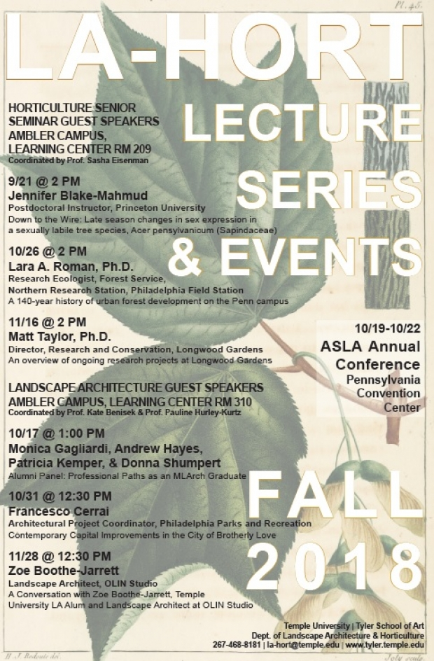 lecture schedule poster