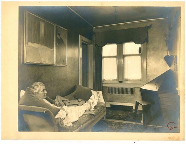 Helene Fischer in her study with Wharton Esherick desk