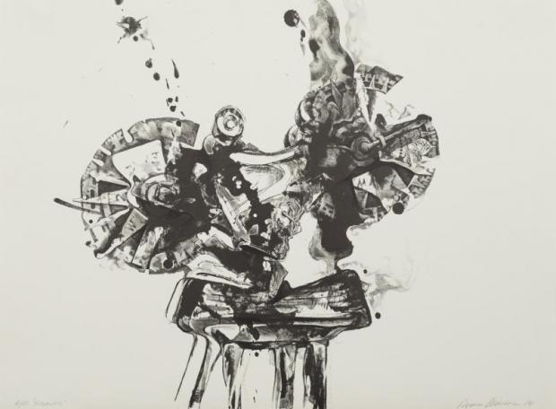 """Romas Viesulas, Olympics, 1984, lithograph, 30"""" x 21.5,"""""""