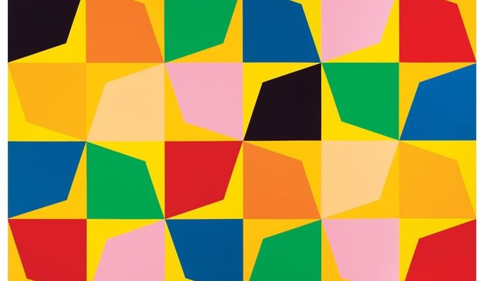 Flower, 2019, acrylic on canvas, 60.25 × 60.25 × 1.5 inches. Images copyright Odili Donald Odita. Images courtesy of the artist and Jack Shainman Gallery, New York, unless otherwise noted.