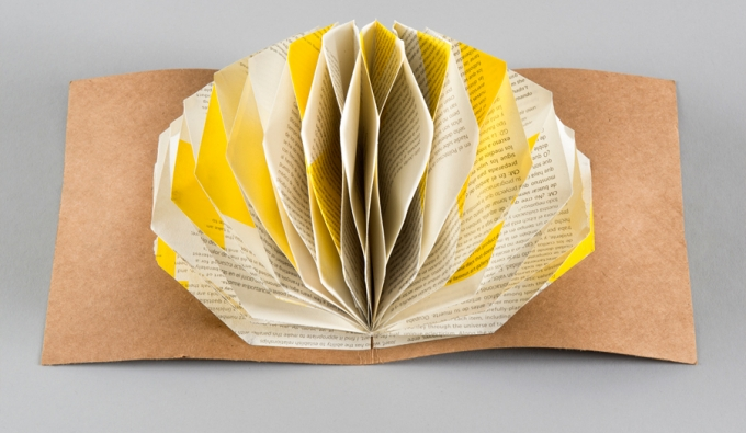 open book with folded center